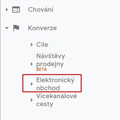 Sekce Elektronický obchod